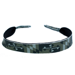 Green Camo Maryland Flag / Neoprene Sunglass Strap
