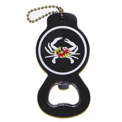 Maryland Flag Crab (Black) / Key Chain w/ Bottle Opener