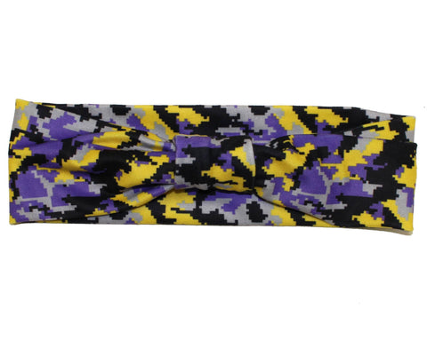 Baltimore Purple & Gold Digi Camo / Headband - Route One Apparel