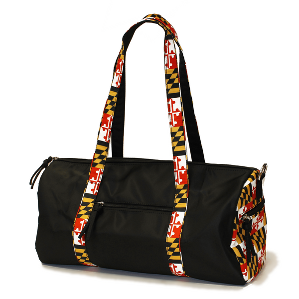 Maryland Flag Straps (Black) / Duffle Bag