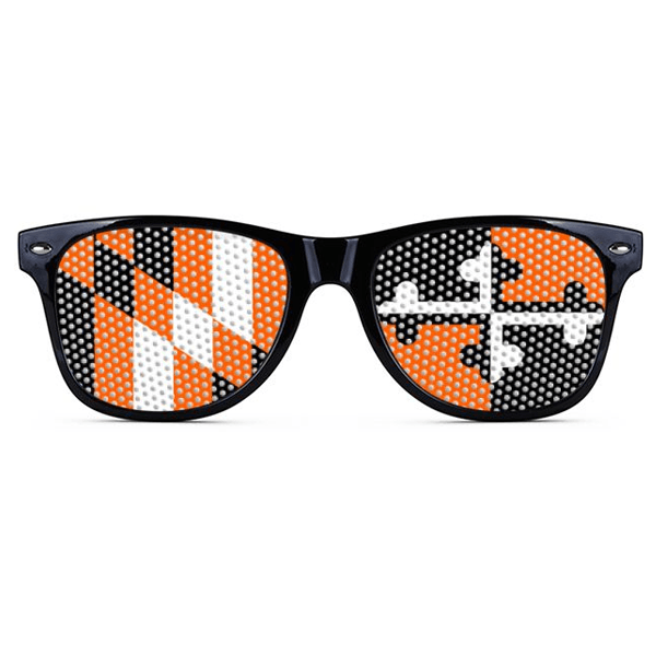 Maryland Flag Black & Orange (Black) / Logo Sunglasses