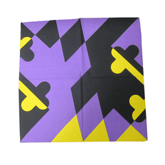 Purple & Gold Maryland Flag / Bandana (22 x 22 inch)
