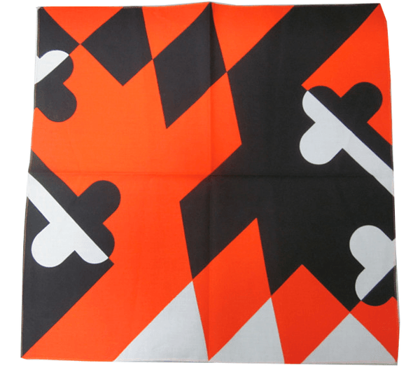 Orange & Black Maryland Flag / Bandana (22 x 22 inch)