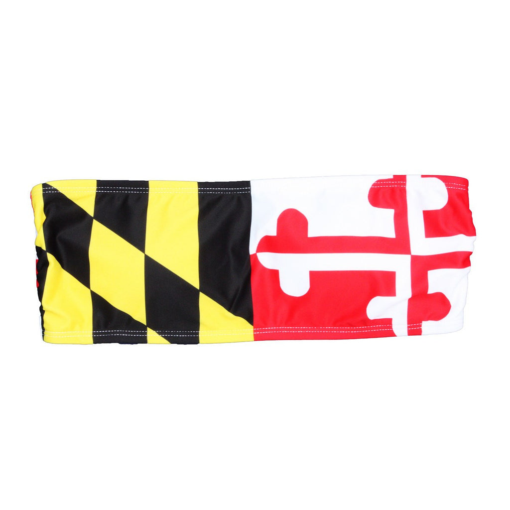 dce30b286a3 Maryland Flag Bandeau Top – Route One Apparel