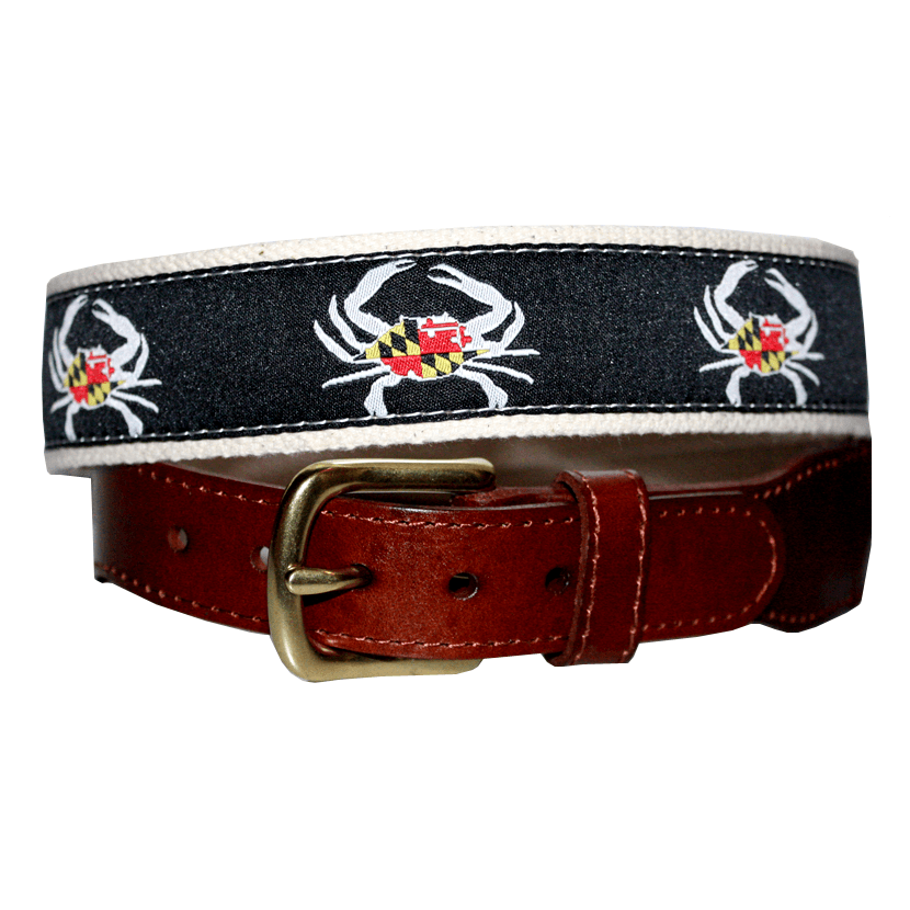 Unisex Maryland Flag Belt in Greyscale Route One Apparel