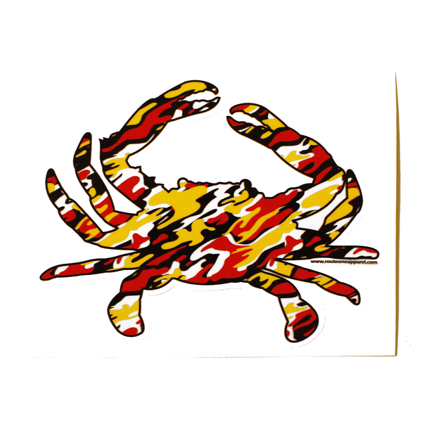 Maryland Colors Crab Branch Camo / Sticker