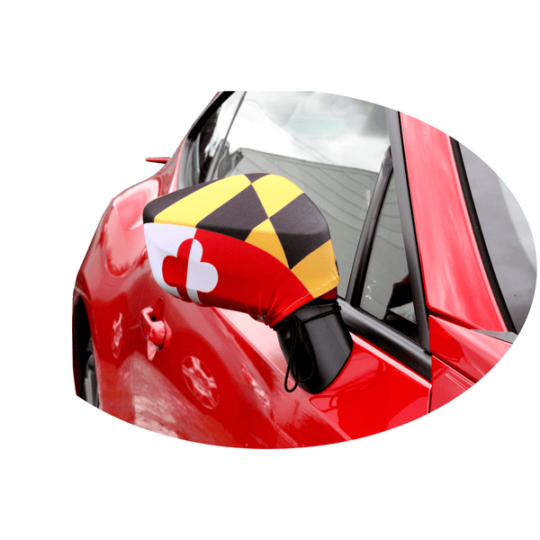 Maryland Flag Car Mirror Sock Route One Apparel