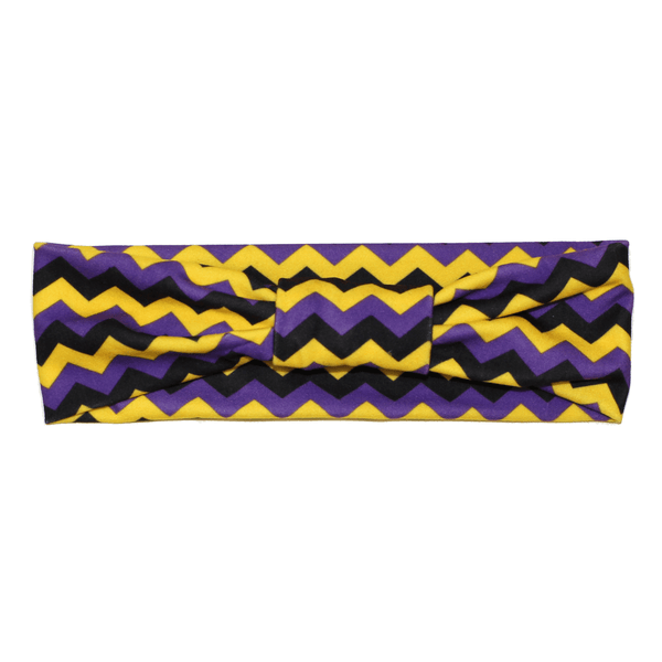 Chevron (Purple, Yellow & Black) / Headband