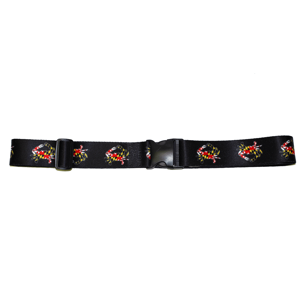 Maryland Flag Crab (Black) / Luggage Strap