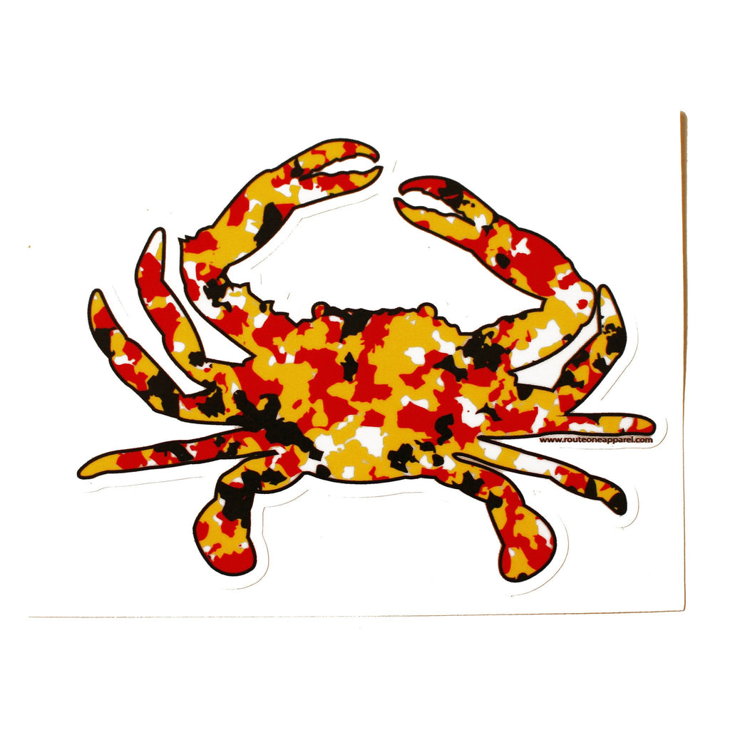 Maryland Colors Crab Spot Camo / Sticker