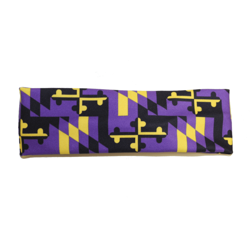Baltimore Football Purple & Gold Maryland Flag (Style 2) / Headband - Route One Apparel
