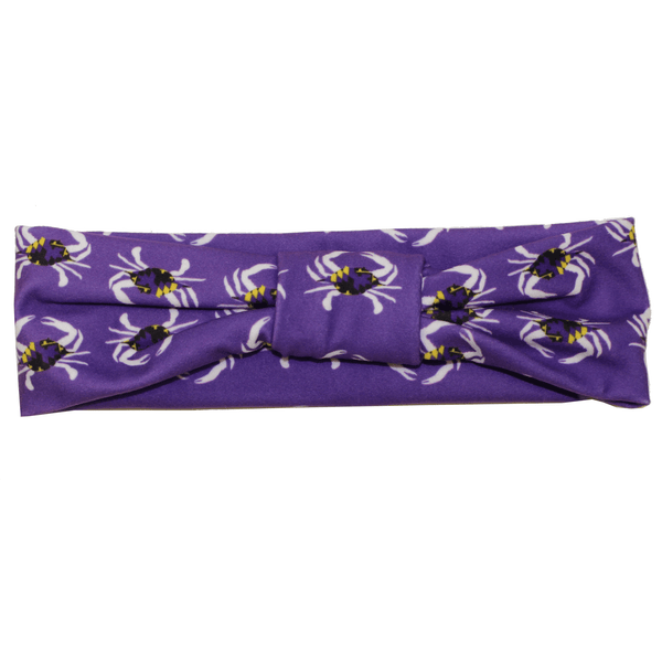 Purple & Gold Maryland Crab / Headband