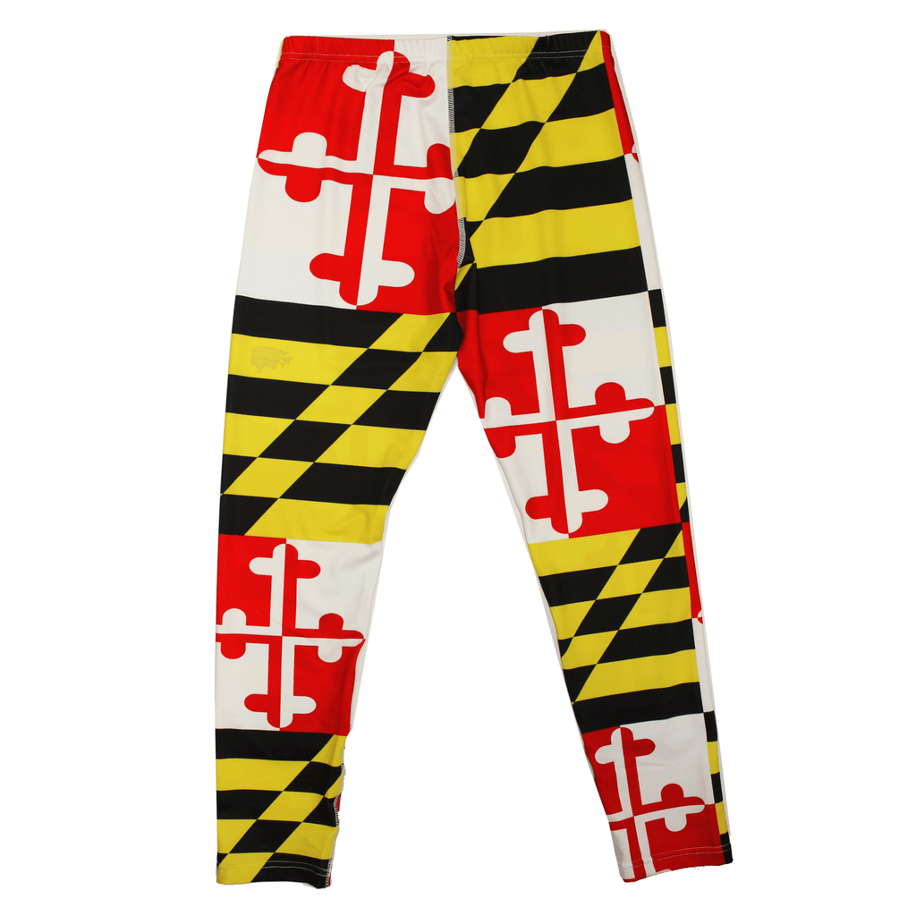 Maryland Flag Pattern Stretch Leggings Route One Apparel