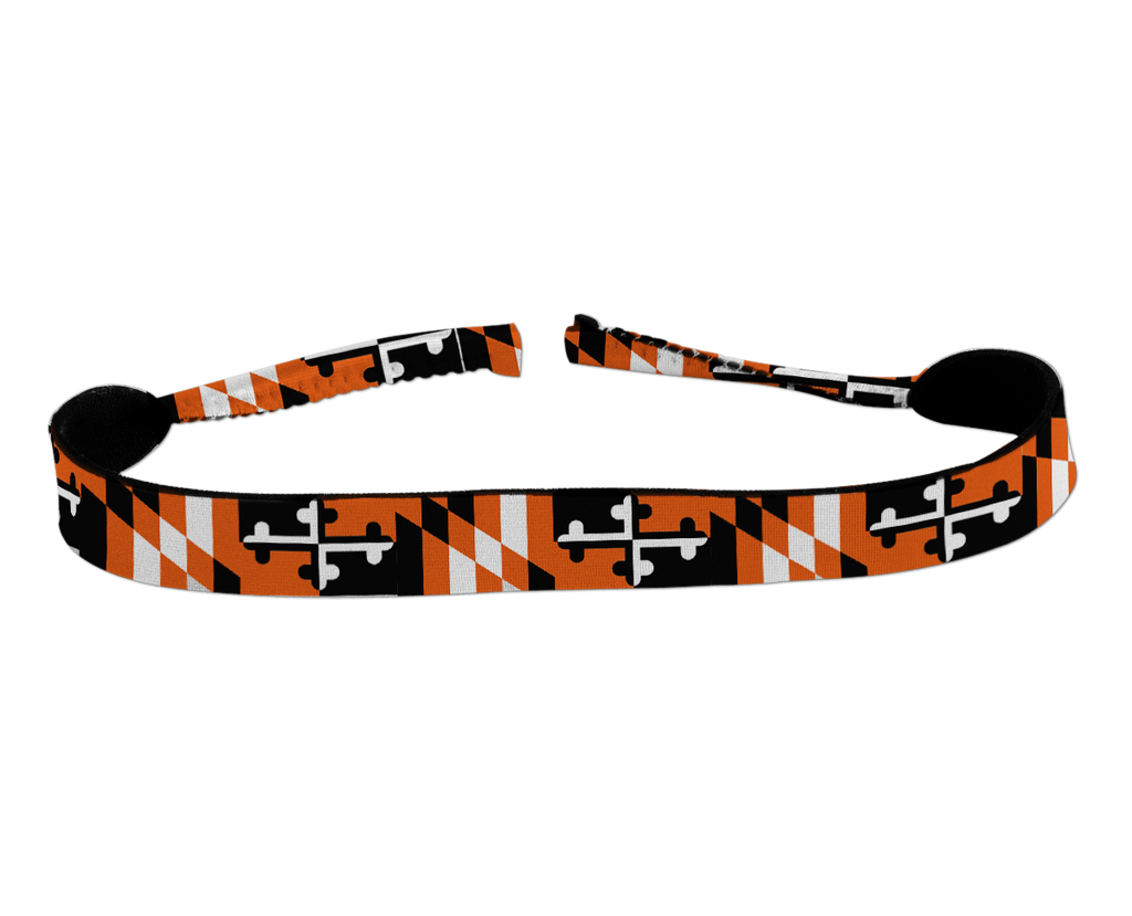 Baltimore Baseball Black & Orange Maryland Flag / Neoprene Croakie - Route One Apparel