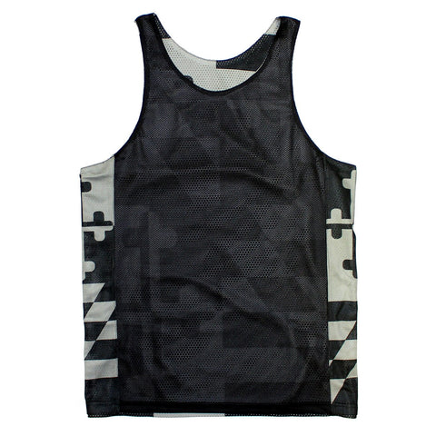 Greyscale Maryland Flag / Lacrosse Pinnie