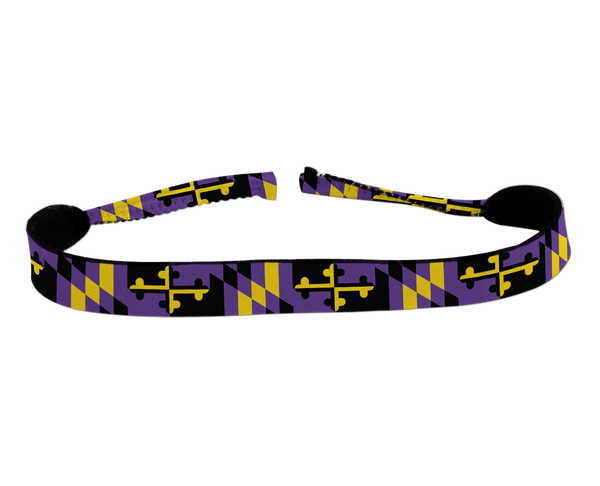 Baltimore Football Purple & Gold Maryland Flag / Neoprene Croakie