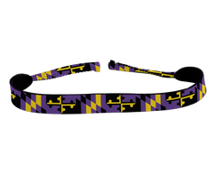 Baltimore Football Purple & Gold Maryland Flag / Neoprene Croakie - Route One Apparel