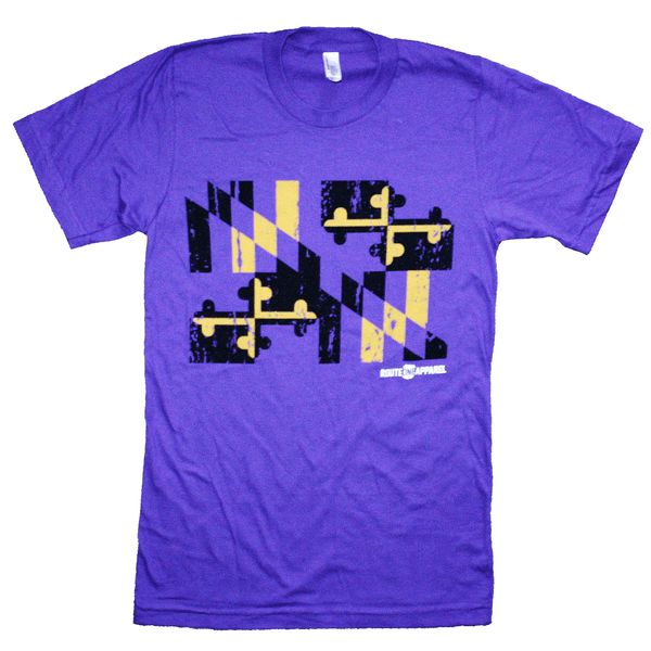 Baltimore Purple & Gold Maryland Flag / Shirt - Route One Apparel