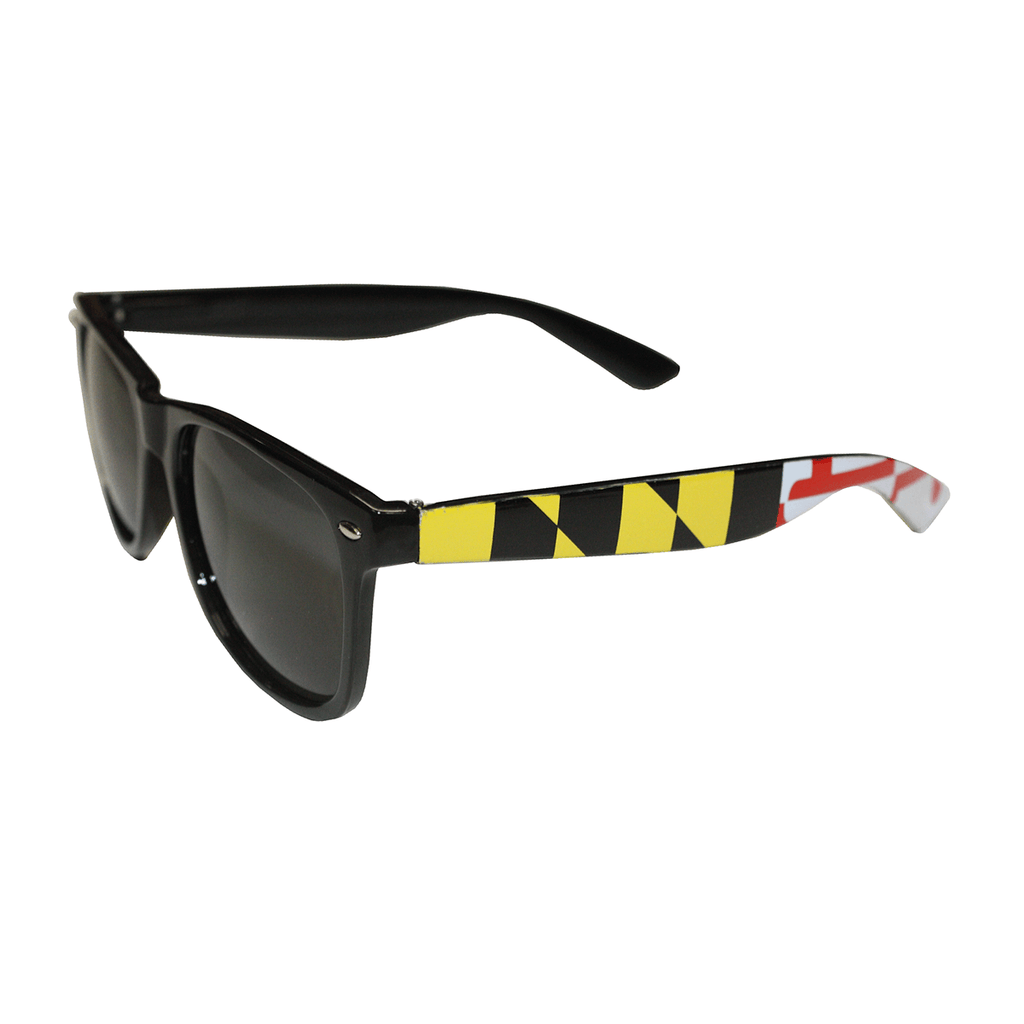 Black Maryland Flag / Shades - Route One Apparel