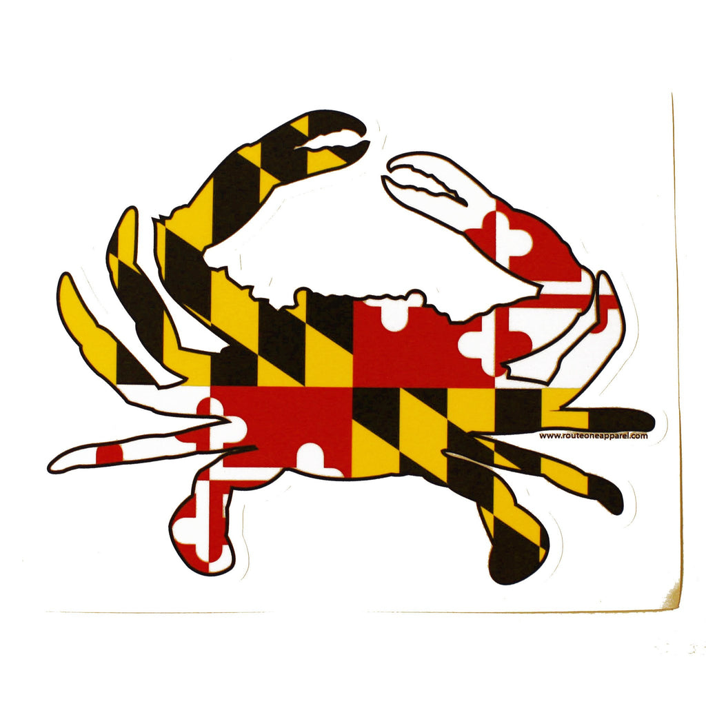 Maryland Full Flag Crab / Sticker