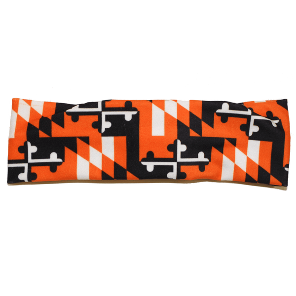 Maryland Flag Black & Orange (Style 2) / Headband