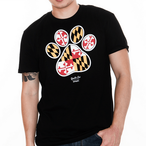 Maryland Paw Print (Black) / Shirt
