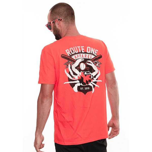 Route One Apparel Baltimore Baseball Flag & Crab (Orange) / Shirt