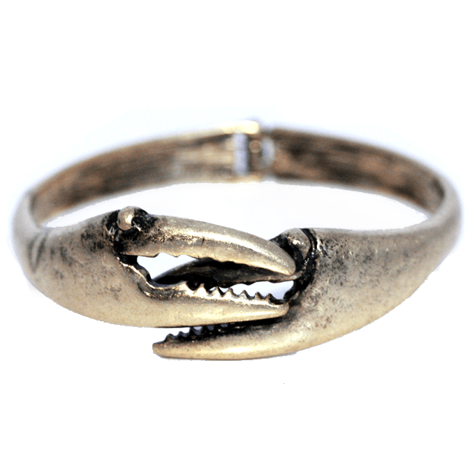 Crab Claw (Matted Gold) / Bangle Bracelet - Route One Apparel