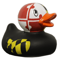 Maryland Flag (Black) / Rubber Duckie