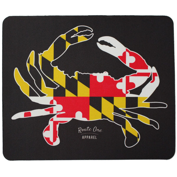 Full Flag Crab (Black) / Mouse Pad