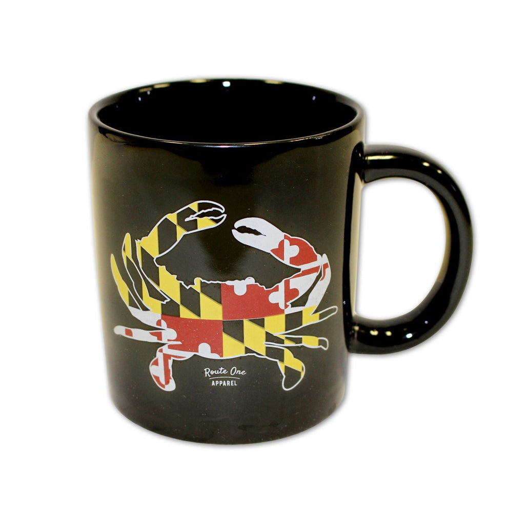 Maryland Full Flag Crab (Black) / Mug