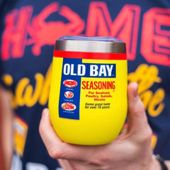 *PRE-ORDER* Old Bay Can (Yellow) / Stemless Wine Tumbler (Estimated Ship Date: 4/20)