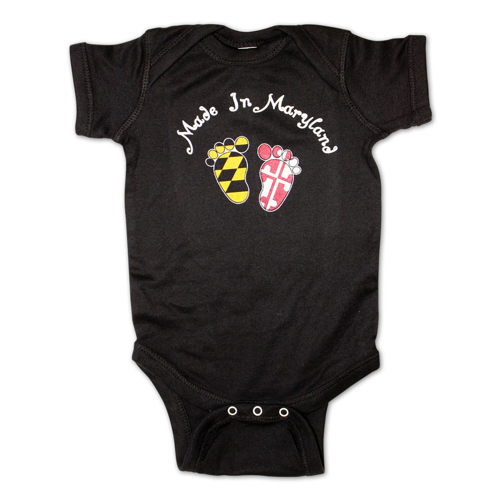 Made in Maryland (Black) / Baby Onesie