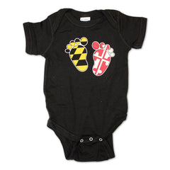 Maryland Feet (Black) / Baby Onesie