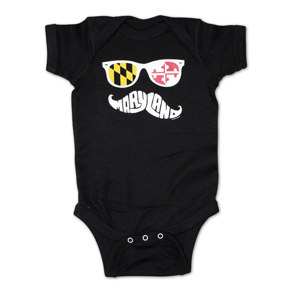 a5c3805f5 Maryland Mustache Baby Onesie – Route One Apparel