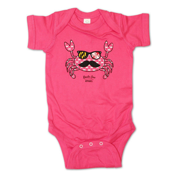Halloween Fun Crab Disguise (Pink) / Baby Onesie