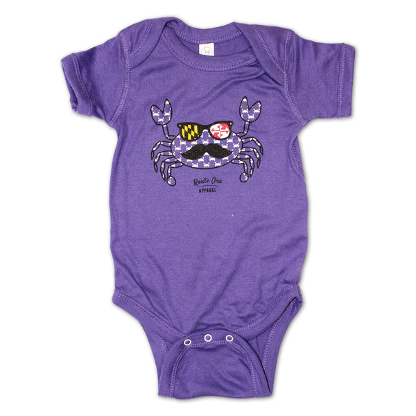 Halloween Fun Crab Disguise (Purple) / Baby Onesie