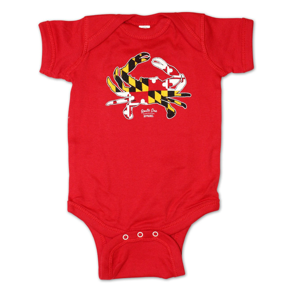 Maryland Full Flag Crab (Red) / Baby Onesie