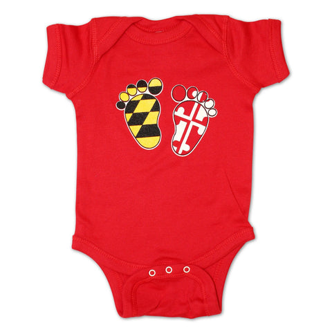 Maryland Feet (Red) / Baby Onesie