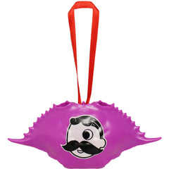 Natty Boh Logo (Neon Purple) / Crab Shell Ornament