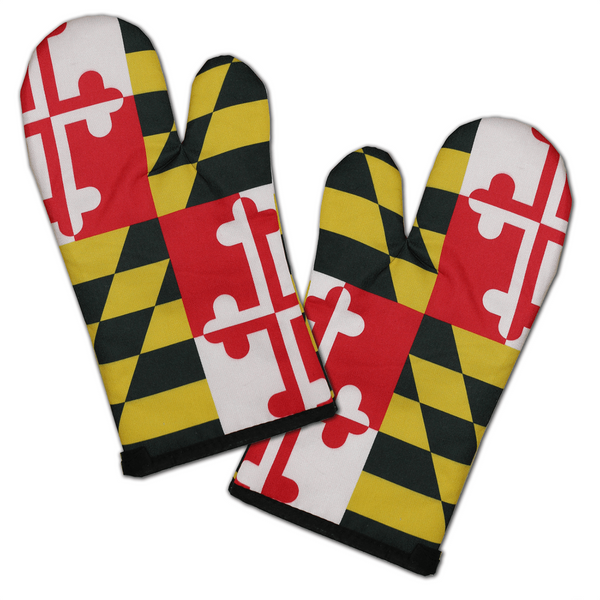 Maryland Flag / Oven Mitts (Set of 2)