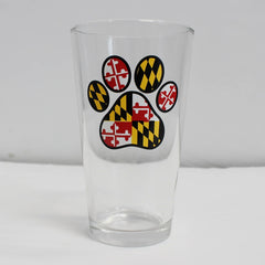 Maryland Paw Print / Pint Glass