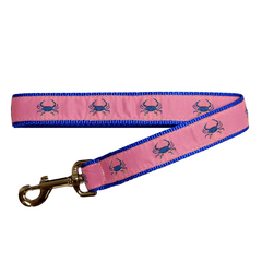 Pink & Blue Crab / Dog Leash