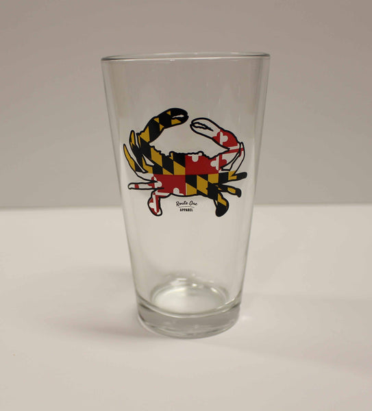 Maryland Full Flag Crab / Pint Glass