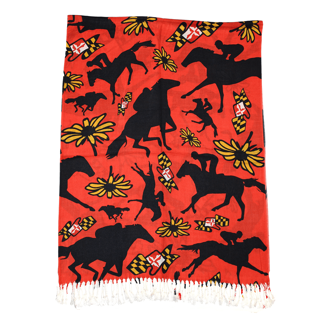 Maryland Horse Racing (Red) / Scarf