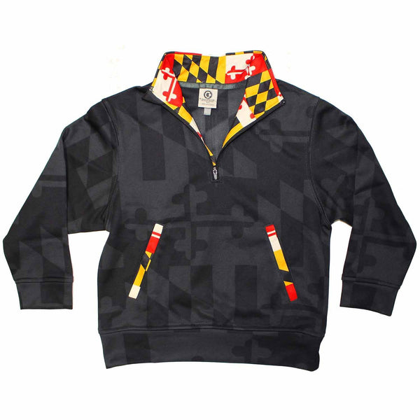 Maryland Flag (Greyscale) / *Youth* Pullover
