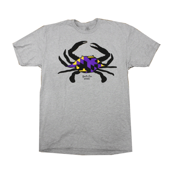 Purple & Gold Maryland Crab (Heather Grey) / Shirt
