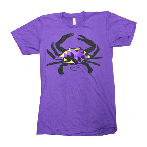 Purple & Gold Maryland Crab (Purple) / Shirt
