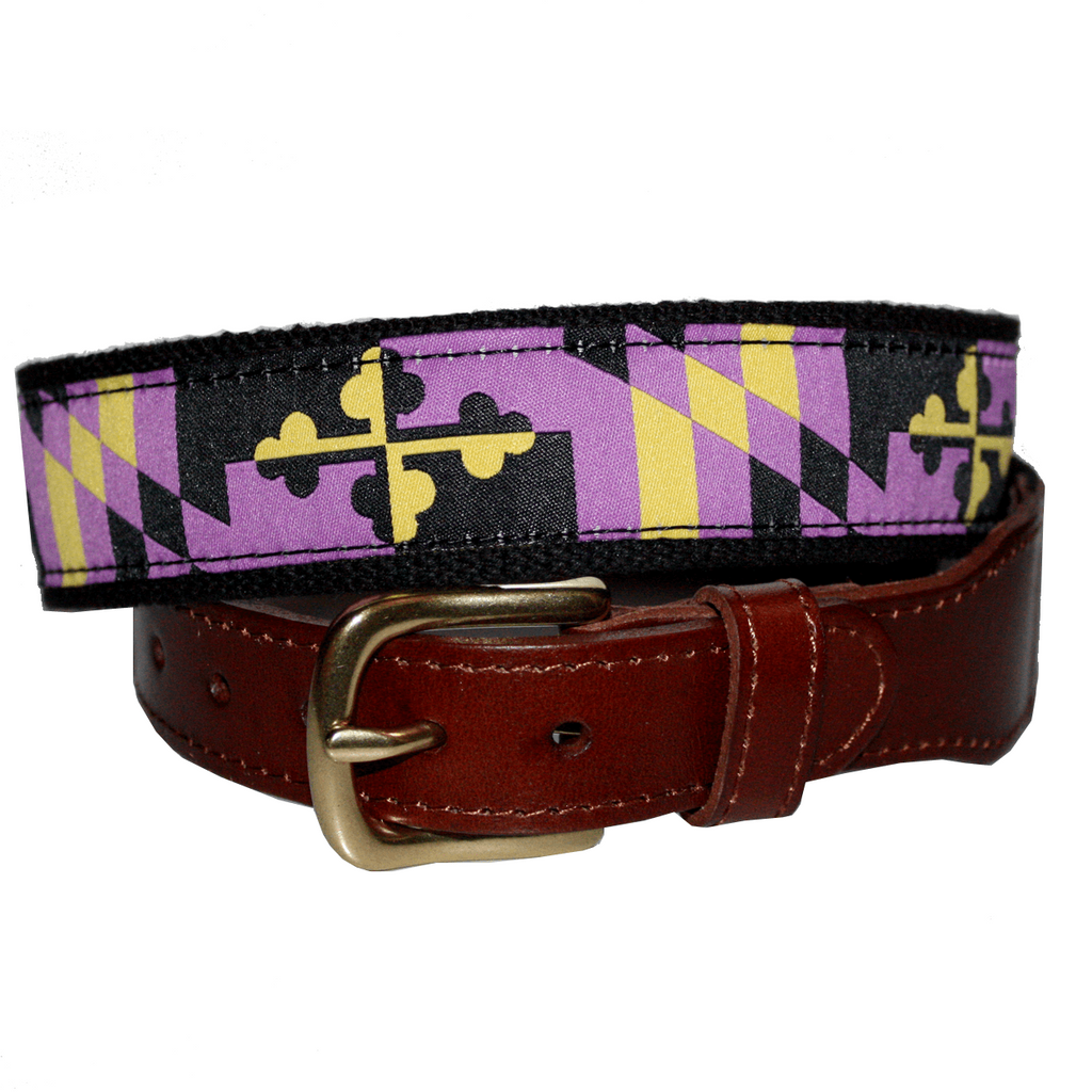 Baltimore Football Purple & Gold Maryland Flag / Belt