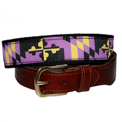 Baltimore Football Purple & Gold Maryland Flag / Belt - Route One Apparel